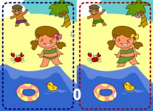 間違い探し7 浜辺編 - ゲーム画面